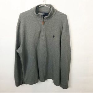 Ralph Lauren Polo l Grey Quarter Zip Sweater